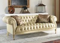 Mozart, Gesteppt klassisches Sofa für Wohnzimmer