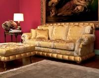 Nobile, Luxury klassischen Sofa mit Hocker, für elegante Lounges