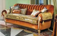 Vivaldi, Gepolstertes Sofa mit Rücken getuftet, für klassische Wohnzimmer