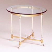 Como Coffee Table, Couchtisch im klassischen Luxus-Stil, in Messing und Glas