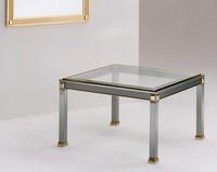 Firenze, Couchtisch für Raum Zentrum von Stahl, Messing und Glas