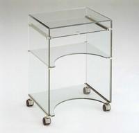 Dattilo, TV-Möbel, in Glas, Auszugboden