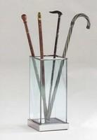 Glass, Schirmständer aus Glas und Stahl, für Haus und Büro