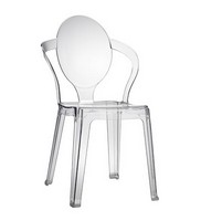 Spoon, Plastikstuhl mit ovalem Rückenlehne, stapelbar