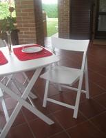 Kimono Stuhl, Klappstuhl aus Buche, kompakt und komfortabel