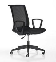 Key schwarz, Einstellbare Arbeitsstuhl, mit Rädern, modernen Büro