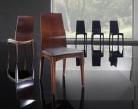 KARINA Stuhl 8526S, Stuhl in Eschenholz und Polyurethan, für Wohnzimmer