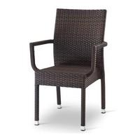 Giada 3, Stuhl mit Armlehnen, gewebt Polyethylen Belag