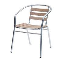 Sd est 2, Stuhl aus Aluminium und Teakplanken zum Garten