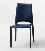 Margherita, Metallstühle mit Lederbezug, für Restaurantsaal