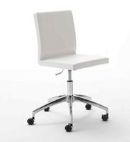 Zip, Drehstuhl für Büro, Aluminium-Basis mit Rädern