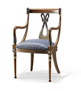 1105/A, Gepolsterter Stuhl mit Arm für Hotel