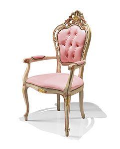 1323/A, Klassischer Stuhl mit Armen für Hotel