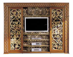 1095V2, TV-Schrank mit Schiebetüren