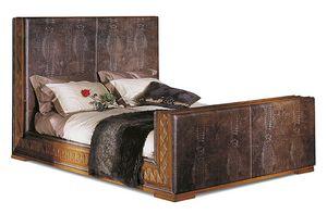 1098V2, Bett mit Alligatordrucklederpolsterung