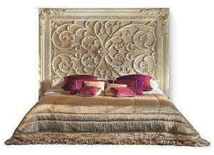 4020B, Bett mit repräsentativem Kopfteil aus Holz