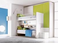 Comp. 302, Schlafzimmer mit Etagenbett, kundengerecht