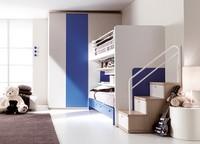 Comp. 303, Farbige Schlafzimmer, Bett patentierten ohne Bodenführung