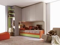 Comp. 204, Modular Zimmer für Kinder, misst anpassbare