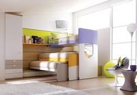 Comp. 405, Kompakte und robuste Schlafzimmer für Kinder mit Etagenbett