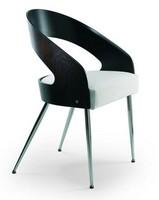1545, Moderne Sessel mit unedlen Metallen, Rücken aus Buchenholz