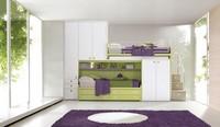 Comp. 968, Modular Zimmer für Kinder, Etagenbett mit Einbauschränken