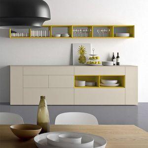 Spazio S306, Anrichte in wesentlichen Stil, aus Holz