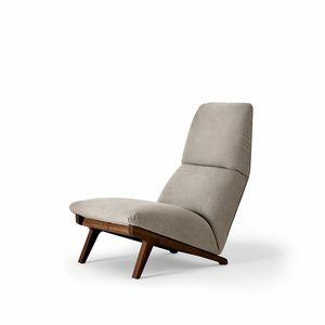 Lisbeth, Sessel Design, Auto Stil der 50er Jahre, Nussbaum