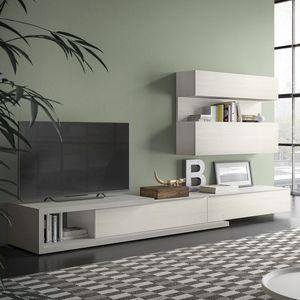 Spazio S309, Wandsystem für TV, mit hallo-Fi-Anlage