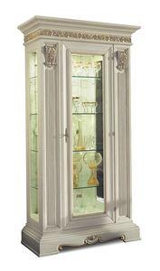 4043, Klassischer Vitrinenschrank aus Glas mit einer Tür
