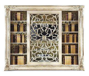 4018AB, Elegantes Bücherregal mit TV-Ständer