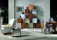 LB18-A Mondrian, Modulare Systeme in Eiche, für klassische Wohnzimmer