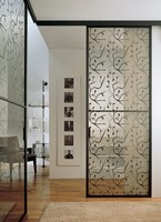 p100 buenos aires, Glas-Schiebe-Tür für Mauerwerk, Aluminium-Rahmen