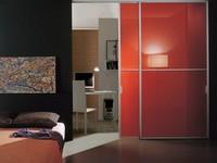 p100 lima, Schiebetür aus Glas und Aluminium, für den Hausgebrauch