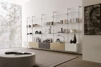 dl300 dublino, Wohnzimmermöbel in Glas und Melamin, für modernes Wohnen