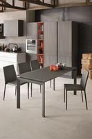 CENTAURO 110 TA172, Moderne Tisch mit gehärtetem Glas ideal für moderne Küchen