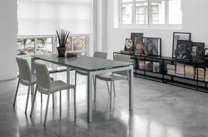 AURIGA 140 TA114, Rechteckigen Tisch mit Glasanbauten