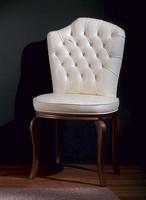 Apollo, Klassischer Stuhl in Leder, anpassbare Abdeckung