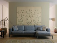 Caresse Fly, Sofa mit Holzgestell, gepolstert in Leder oder Stoff