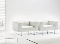 Gate Sessel, Moderne Sessel quadriert, verchromtem Metall