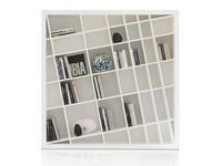 Giano Kompact, Bibliotheken weiß lackiert, modern und elegant, für Wohnräume