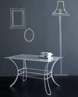 Fiocco Rechteckige Coffee Table, Couchtisch aus Eisen Rohr, Milchglas