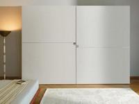 Querini, Lagerschränke, Schiebetüren, für die moderne Schlafzimmer