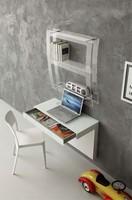 a105 kappa, Schreibtisch mit Glasplatte, Wandmontage