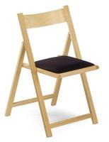 193, Klappstuhl aus Buche, Sitz gepolstert, für Feiern