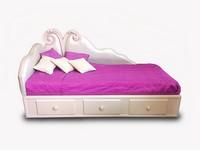 Art. 2930 Candy Valentina, Bett im klassischen Luxus-Stil, Öko-Leder-Abdeckung