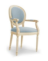 NADIR Art. 1190, Lackiert Stuhl mit Armlehnen, gepolsterter Sitz