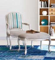 IDRA Art. 1546, Lackiert Stuhl mit Armlehnen, Sitzstoff, für Wohnzimmer