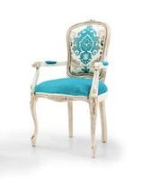 PEGASO Art. 4604, Stuhl mit Armlehnen, traditionellen Stil, in Stoff Raphael