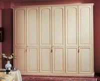 Sirio Kleiderschrank, Kleiderschrank im getäfelten Holz, 6 Türen zum Luxus-Hotels